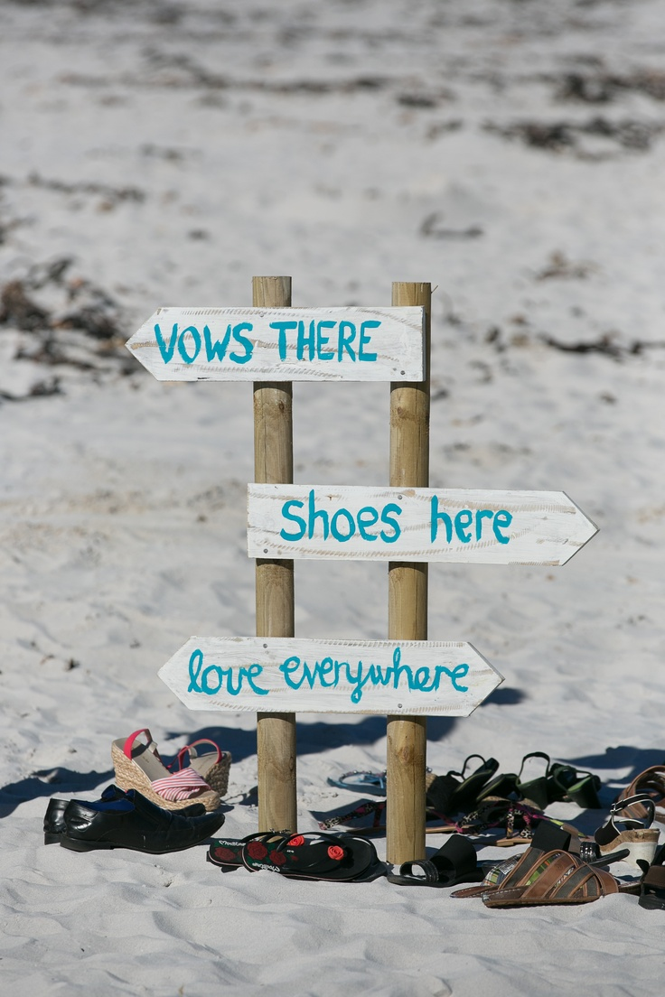 Our beach sign for our wedding we had made