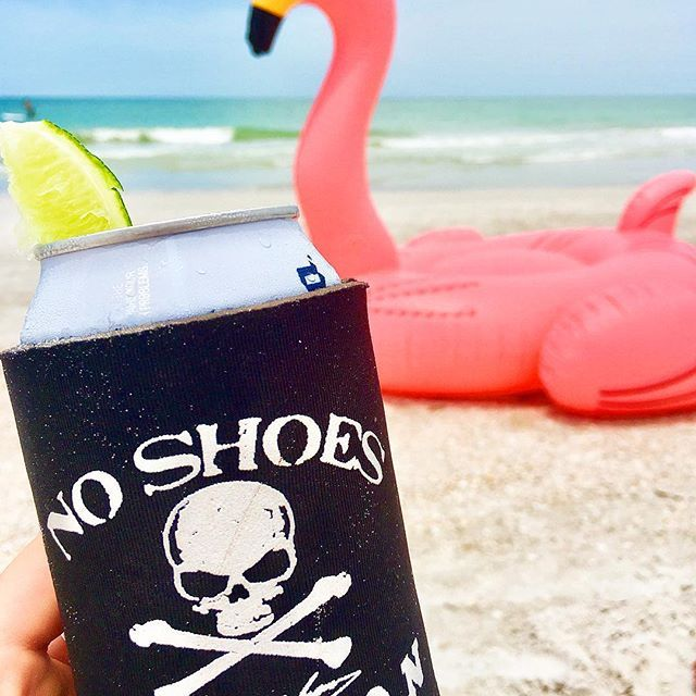 No Shoes Nation Koozie makes any beer better!