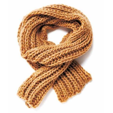 Strickmuster: Schal mit Patentmuster stricken