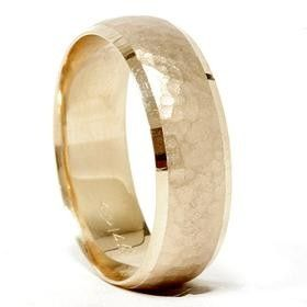 allison...mens Hammered 14K Yellow Gold 6 MM Wedding Ring Band by Pompeii3, $429.00