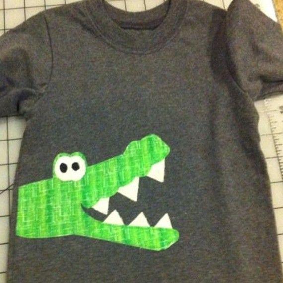 alligator on side of shirt