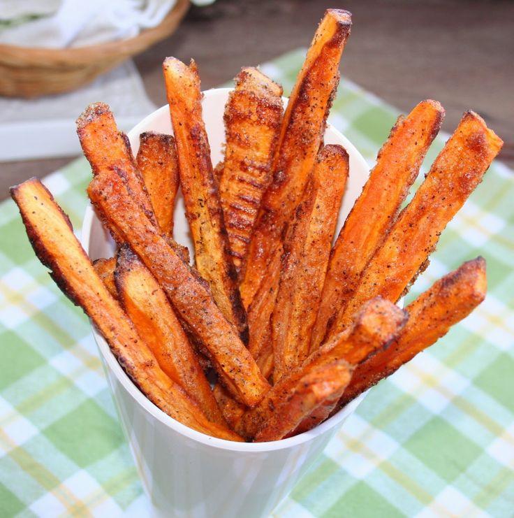 Frites de patates douces au four