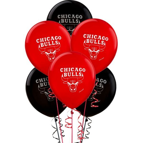 Chicago Bulls Latex Balloon 12in 6ct
