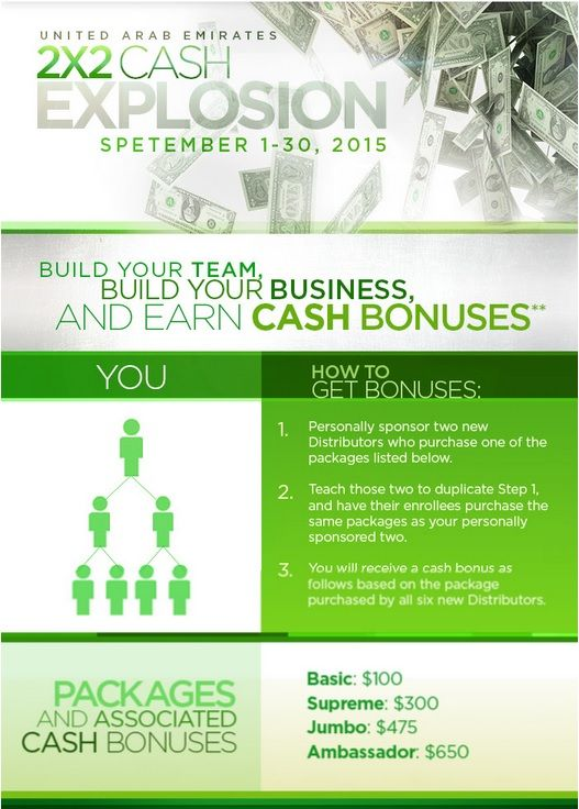 Hurry and earn additional cash bonuses