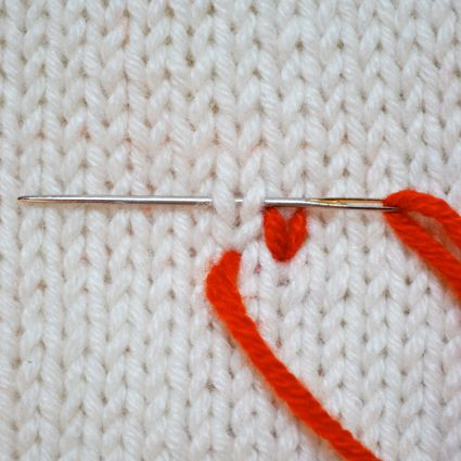 Weaving in Ends - the purl bee