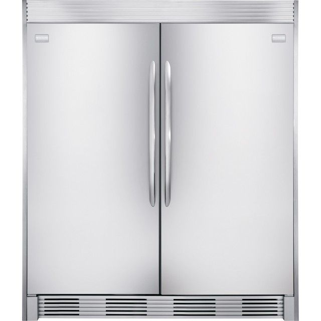 Frigidaire Gallery FGFU19F6QF 18.6 cu. ft. Upright Freezer and FGFU19F6QF 18.6 cu. ft. All-Refrigerator in Stainless Steel