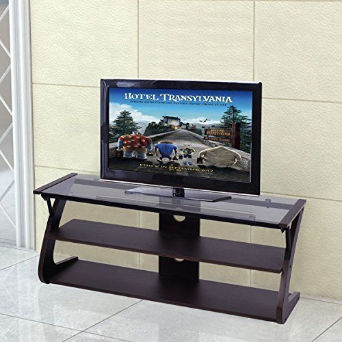TV Stand 3-Tier Glass Top Entertainment Center Media Console Furniture Stylish  #HomeIdeas