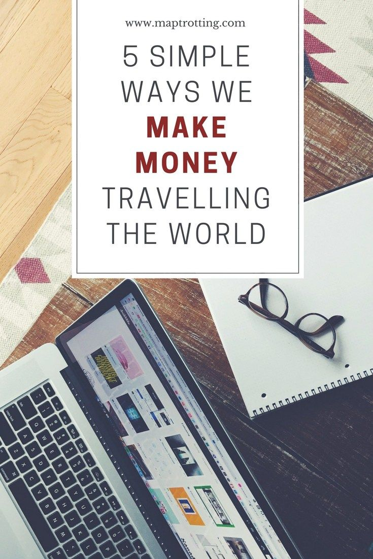We share 5 simple ways that we make money travelling the world. Earning money online means we can keep traveling and be location independent. Here's how.  Make Money Travelling the World | Digital Nomads | Earn Money Online | Online Income | How to Make Money Online