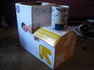 A diaper box train.. trunk or treat?