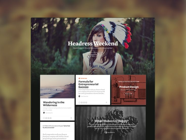 A design experiment with the Medium homepage aiming to make it visually richer and include types of content and social context. We decided against the direction for a number of reasons, but figured...