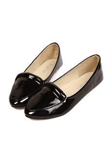 カジュアルブラックフラット女性オフィス靴