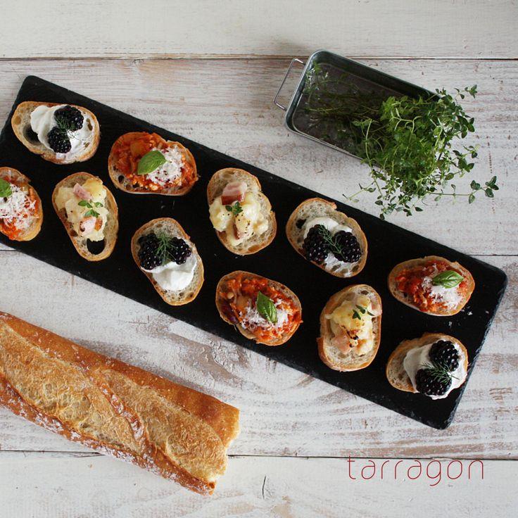 えのきと鶏ひき肉のヘルシートマトソースで、ヘルシーカナッペ3種のおつまみー♪ | タラゴンの挿し木  フードデザイナー奥津純子(タラゴン)オフィシャルブログ