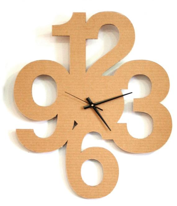 Reloj Números / CartónCartón - Artesanio