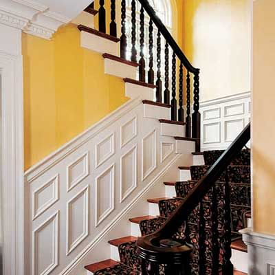 I might have to paint my white hand railing and spindles black.
