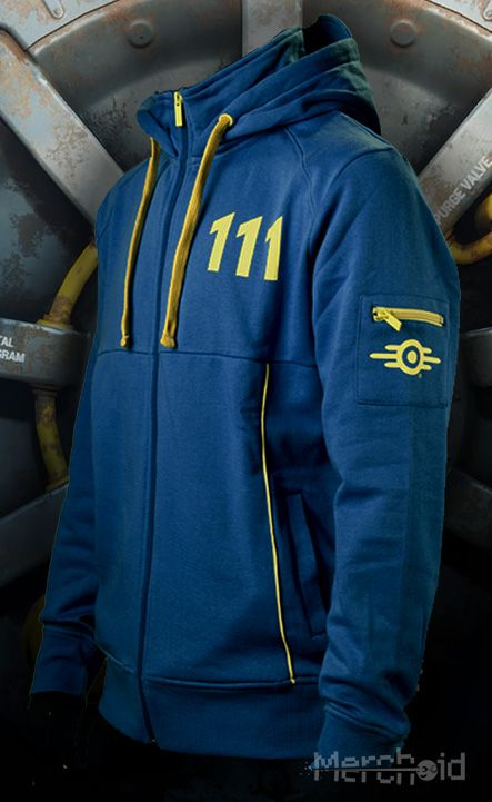 Fallout 4: Vault 111 Sole Survivor Hoodie. I have this hoodie & I wear it during gameplay