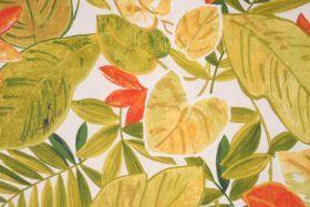 Tropical Drapery Prints :: 6.3 Yards Mill Creek Everglades Printed Cotton Drapery Fabric in Jasmin - Fabric Guru.com: Fabric, Discount Fabri...