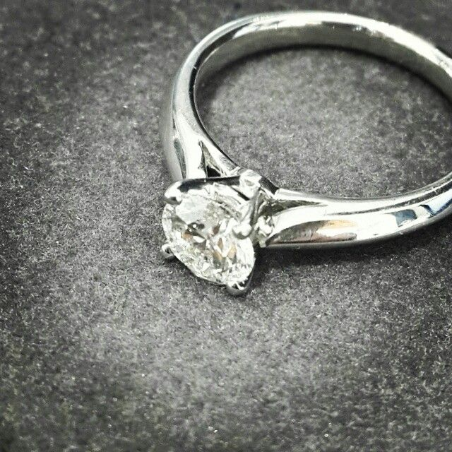 Africn - Diamonds - Gold  This is a beautiful 0.40ct Diamond in a White Gold 4 Claw Ring.  #diamonds #platinum #handcrafted #africndiamonds #africn