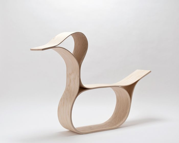 """A shaped-plywood """"rocking duck"""" from designer Florian Hauswirth. Way cooler than a standard rocking horse."""