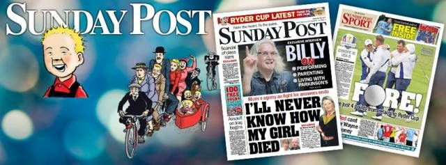 I'll be interviewed for The Sunday Post. A great honour indeed to be featured in this secular paper. 'Founded in 1914 & published by DC Thomson : Scotland's favourite family newspaper since 1914. Won Newspaper of the Year at the Scottish Press Awards 2013. Features the much loved cartoons Oor Wullie & The Broons! delivered by post UK & worldwide.' http://www.sundaypost.com