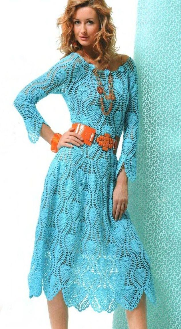 """Vestidos elegantes modelos hechos de los motivos """"piña"""". vestido de ajuste de arriba a abajo en un círculo, por lo que el modelo no tien..."""