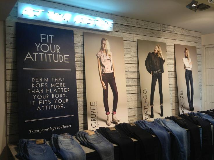 The catchy denim style ranges inside Regent Street's Diesel store
