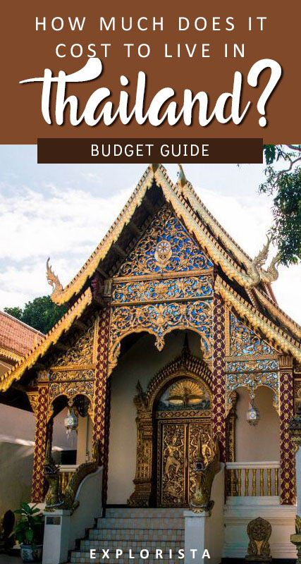 How much exactly does it cost to live in Thailand for a month? Here's a budget breakdown of all the different costs. #thailand #budget