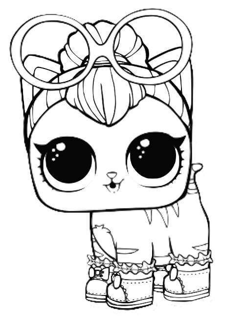 Ausmalbilder Neon Kitty From Lol Pets Karter S 6 Geburtstag 6