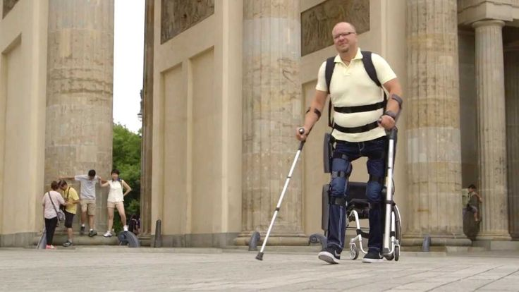 ReWalk Exoskeleton allows people with spinal cord injuries to walk upright again (it also works atrophied muscles in the process!)