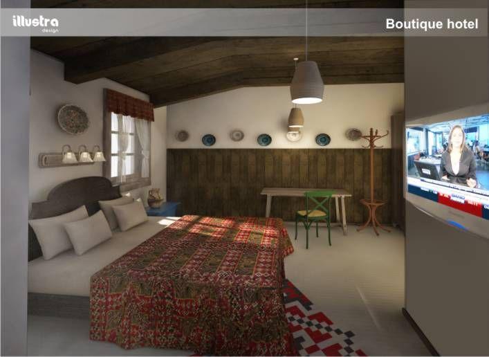 hotel room rander 3d design