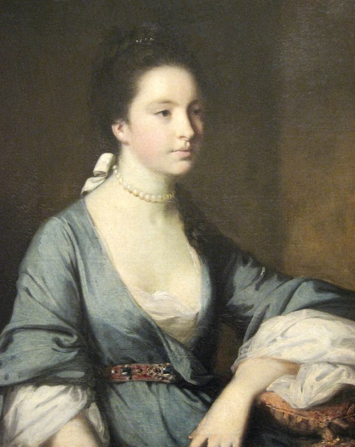 ca. 1761 Isabella Carr, later the Countess of Erroll by Sir Joshua Reynolds (Worcester Museum of Art - Worcester, Massachusetts, USA) inc exp filled in shadows