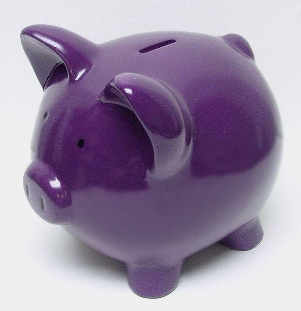 Purple Piggy Bank  with <3 from JDzigner. www.jdzigner.com