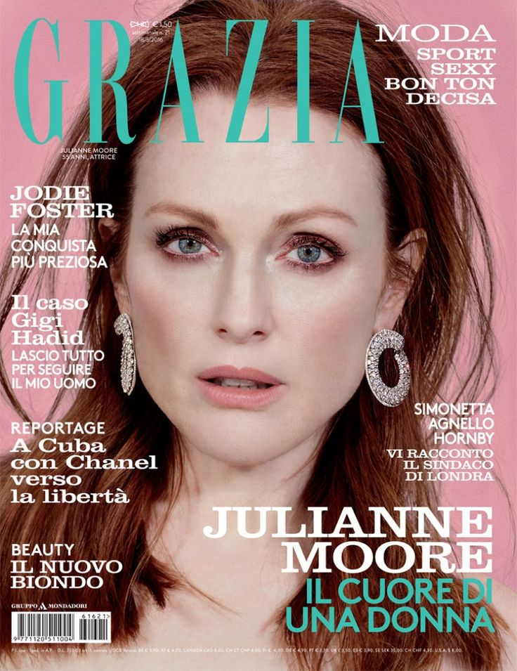Beauty Mags: Julianne Moore   Grazia Italy May 2016