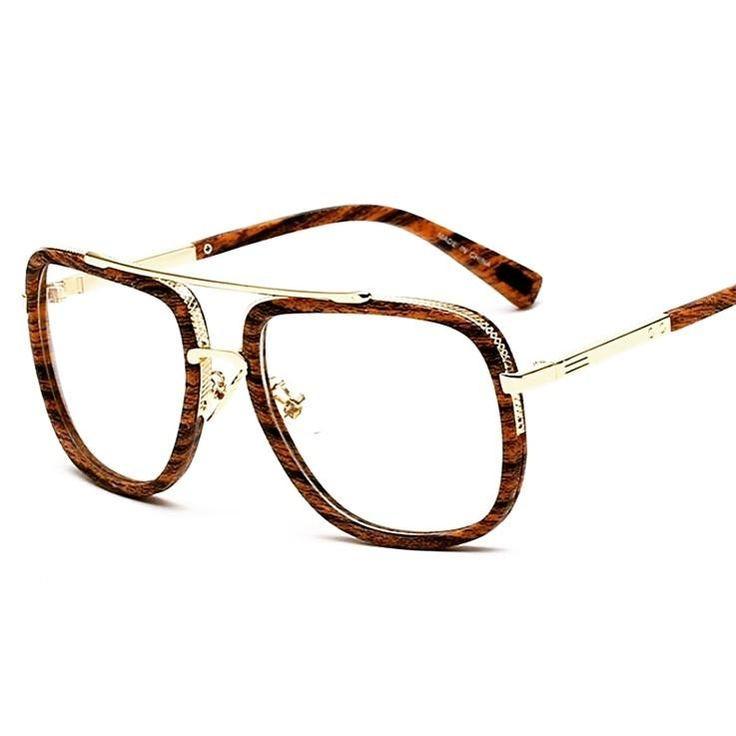 Wood Grain Eye Glasses Frames for Men