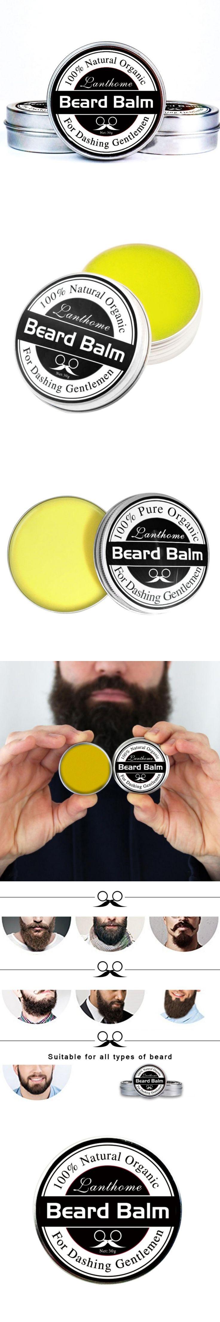 Beard Conditioner Leave Moisturizing Effect Beard Care New Lanthome Natural Men Beard Hair Wax Balm MISS ROSE 25g
