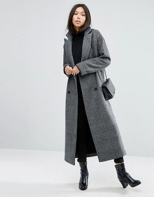 Veste / Manteaux / Style / Wichlist / Gift / Hiver / Cadeau / Long / Gris / Asos