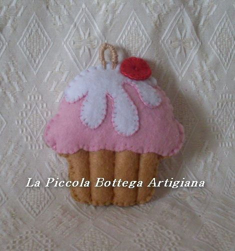 Mini cupcake in pannolenci