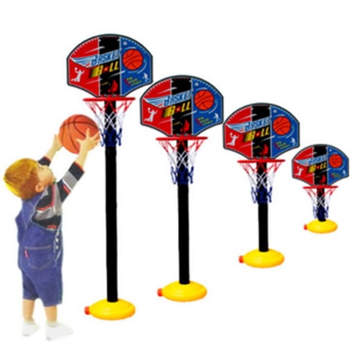 Kids Sports Portable Basketball Toy Set with Stand Ball & Pump Toddler Baby New Hot!