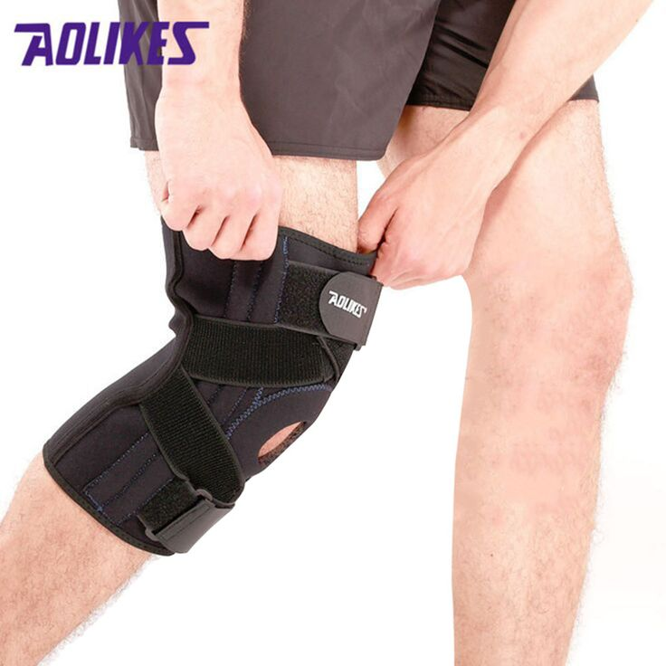 1 PCS Knee Brace with Spring Support breathable Sextet Lock Knee Protector knee support professional protective sports knee pad