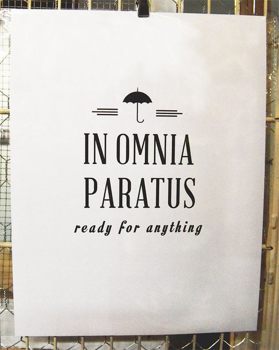 Gilmore Girls In Omnia Paratus print by SeeHorseDesign on Etsy