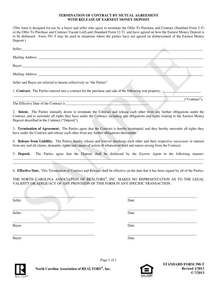 Get Our Example Of Release Of Earnest Money Deposit Form For Free Earnest Being A Landlord Deposit