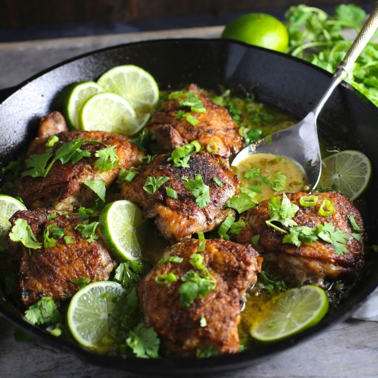 Chicken with Lime, Garlic and Cilantro by Nerds with Knives