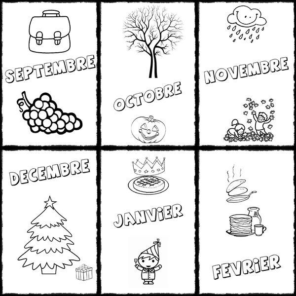Les mois de l'année pour le cahier de vie - Cahiers et livres