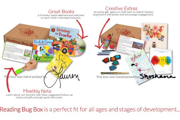 A personalized selection of books & gifts delivered monthly. For reading bugs of all ages!