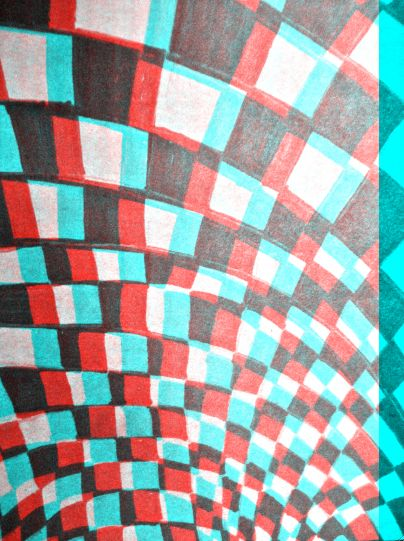 Anaglyph 3D illusion