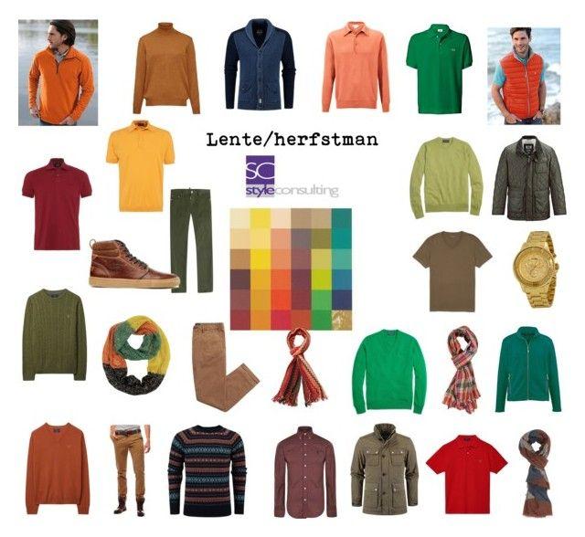 """Lente/herfstman. Kleurenanalyse."" by roorda on Polyvore featuring mode, Lacoste, Hahn, BOSS Black, GANT, Dunn, Alpine, John Smedley, Brooks Brothers en Dsquared2"