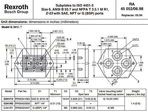 Rexroth Bosch Group G341/01 RR00424447 Hydraulic Valve Su... https://www.amazon.com/dp/B01G280724/ref=cm_sw_r_pi_dp_x_3zY6xbN41XVFB
