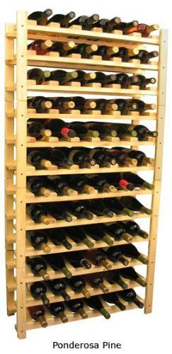 """Wooden 72 Wine Bottle Stackable Wine Rack Storage Kit (Ponderosa Pine) by Wine Racks America Living Series®. $210.84. Fits all 750ml Bottles Including Pinots and Champagnes. With same day free shipping, this value can't be beat. Dimensions: 57""""(h) x 28 5/8""""(w) x 9 1/2""""(d). Constructed of Furniture Grade Ponderosa Pine. Simple Assembly May be Required. Proudly Made in the USA. Lifetime Warranty.. Four kits of wine racks for sale prices less than three of our 18 bottle Stackab..."""