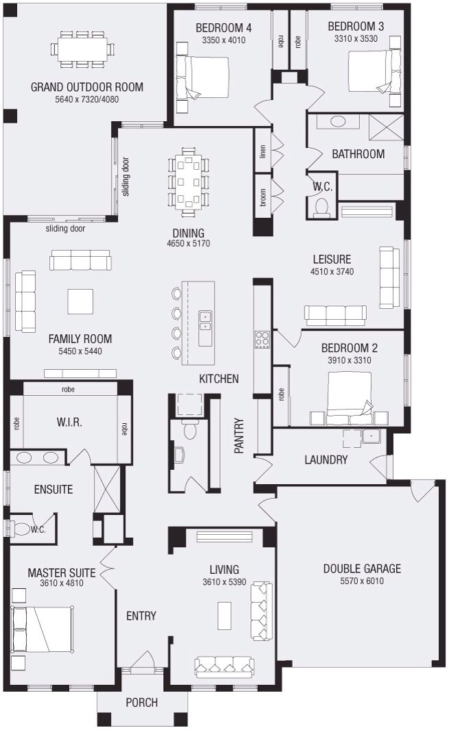 Lincoln 37... Metricon Homes Pretty much perfect single story floor plan