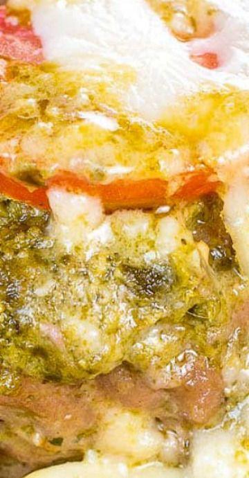 Pesto Baked Italian Turkey Meatballs