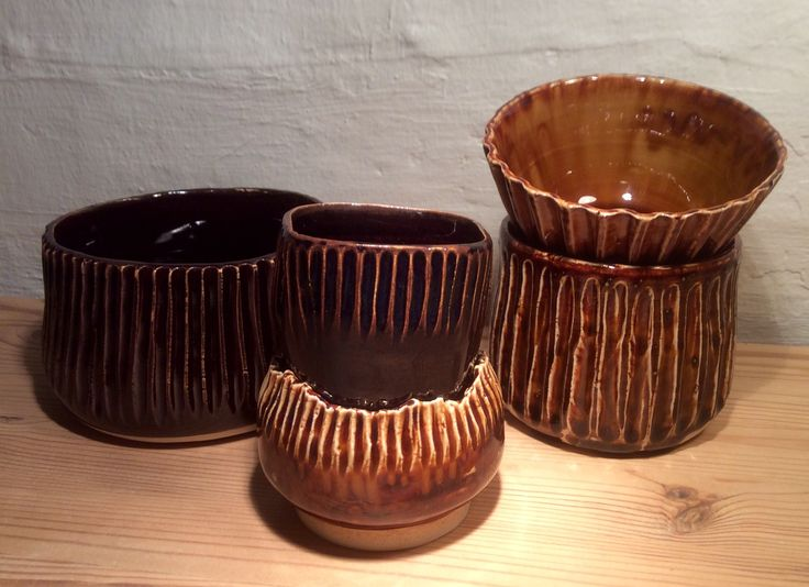 Tysk lertøjsglasur, brændt til 1260... Det er ren chokolade. 1141A - honningbrun. Marts 2016
